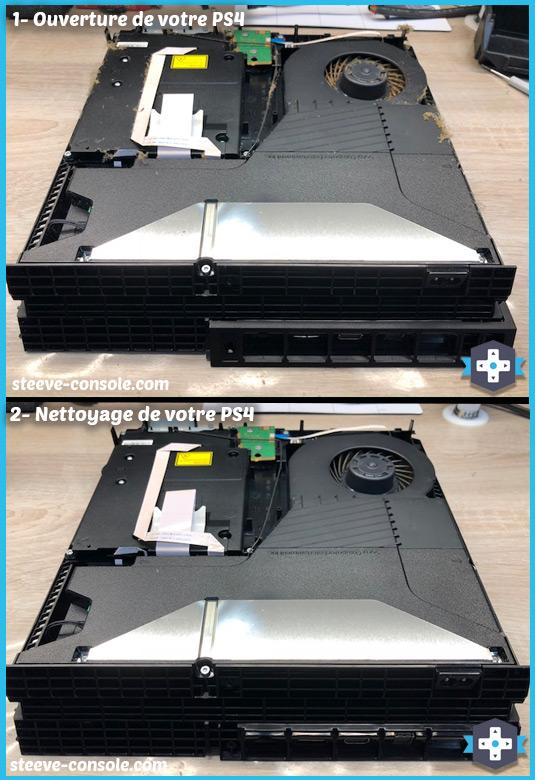 Nettoyage PS4 bruyante qui chauffe