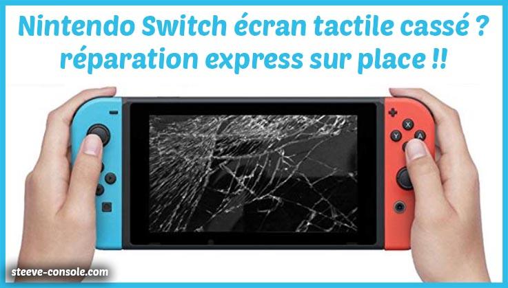 Réparation écran tactile nintendo switch paris