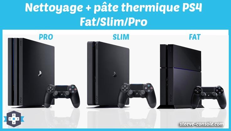 Forfait nettoyage et changement de pâte thermique PS4 fat, slim et pro sur Paris.