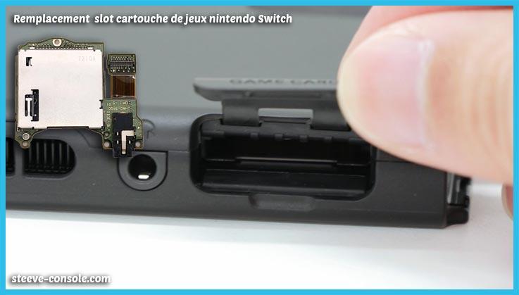 Remplacement slot cartouche de jeu nintendo switch Paris.