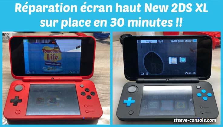 Réparation de l'écran haut new 2ds xl sur place, pas cher en 30 minutes sur Paris chez Steeve console.