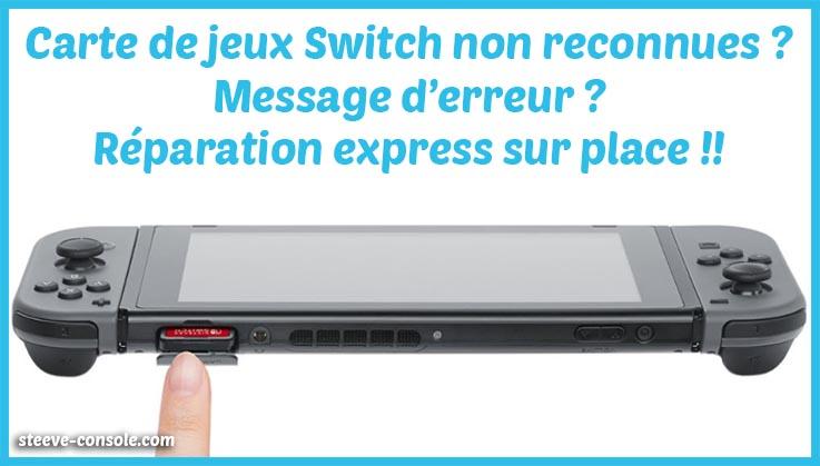 Réparation slot carte de jeu nintendo switch paris.