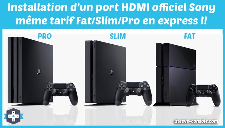 Réparation du port hdmi PS4 fat, slim et pro sur Paris 75011.